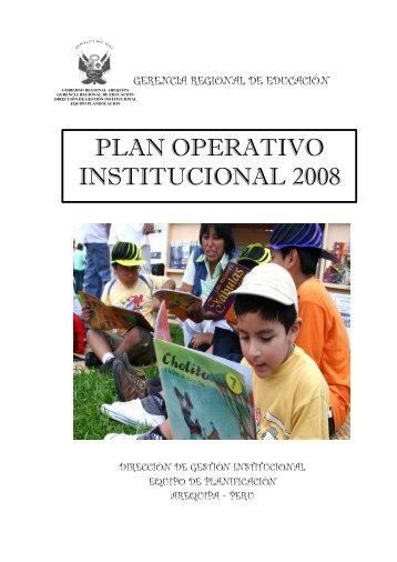 poi 2008 drea _proyecto-version final - Gerencia Regional de ...