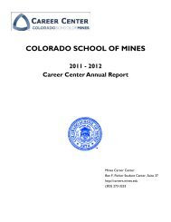 2011-2012 Colorado School of Mines Career Center Annual Report with Appendices