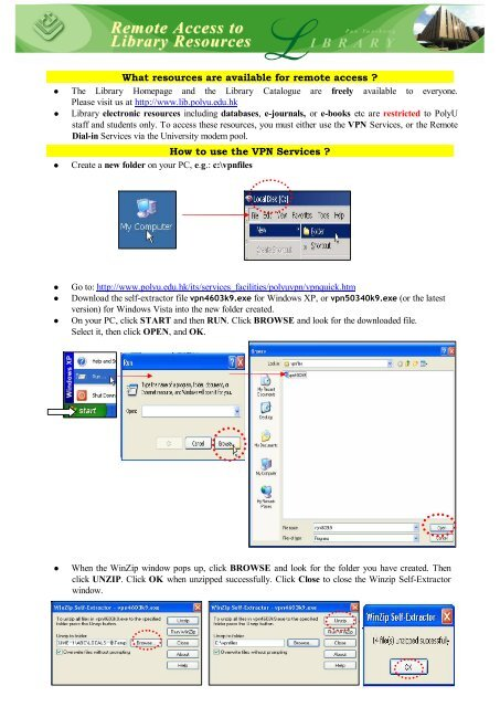 Remote access to PolyU Library resources - The Hong Kong