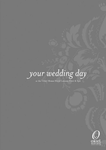 Click here to download our wedding brochure - Oriel House Hotel