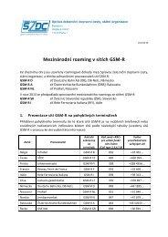 Mezinárodní roaming v sítích GSM-R - SŽDC
