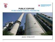PUBLIC EXPOSE - Indocement Tunggal Prakarsa, PT.