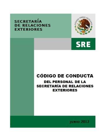 Código de conducta - Secretaría de Relaciones Exteriores