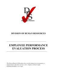 employee performance evaluation process - myDPS - Detroit Public ...