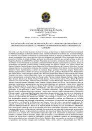 Ata de Instalação e Posse do Conselho Universitário – Bagé