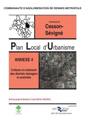 COLLECTE DES DECHETS MENAGERS - Cesson-Sévigné