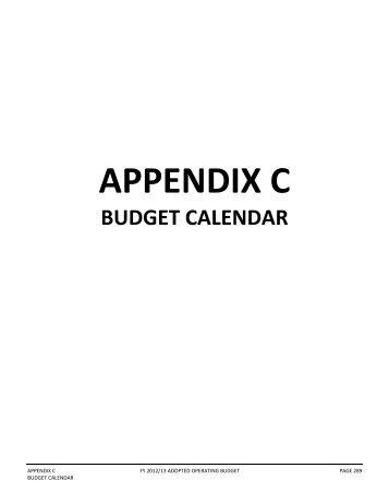 Appendix C - Budget Calendar - Spartanburg County