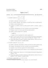 Álgebra Linear C - Departamento de Matemática da Universidade ...