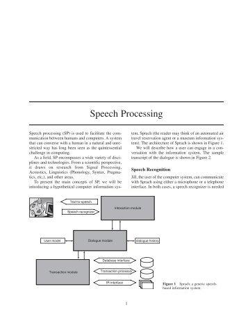 Speech Processing.qxd - CLAIR