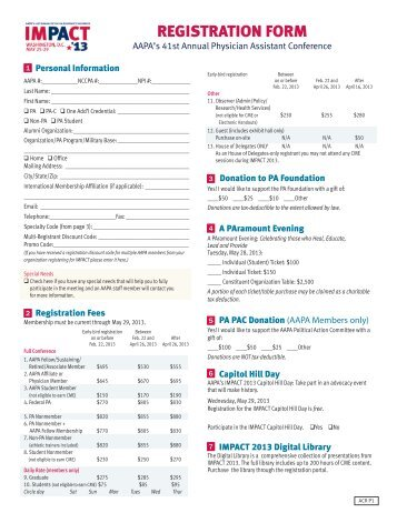 to download the PDF registration form - American Academy of ...