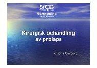 Kirurgisk behandling av prolaps - SFOG