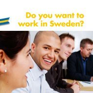 Do you want to work in Sweden?