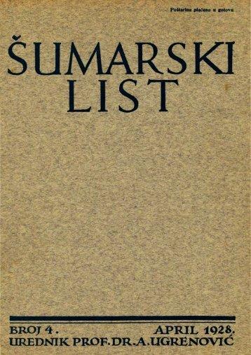 ÅUMARSKI LIST 4/1928