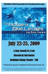 The House of Blue Leaves - Thief River Falls Community Arts Council