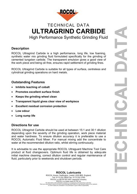 ULTRAGRIND CARBIDE - bloch servis