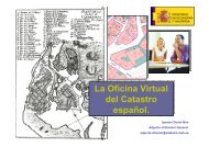 La Oficina Virtual del Catastro español. La Oficina Virtual del ...