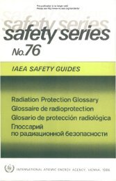 IAEA SAFETY GUIDES - gnssn - International Atomic Energy Agency