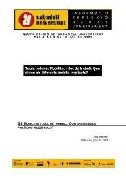 Pla d'actuacions del Programa per a la Mobilitat de la Generalitat de ...