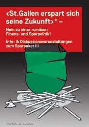 Flyer Veranst. Sparpaket.pdf - Grüne Kanton St. Gallen