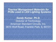 Thermal Management Materials for PCBs used in LED ... - ASC-I