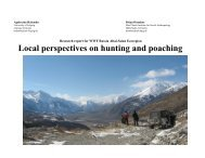 Report «Local perspectives on hunting and poaching» , PDF, 4.7 Mb