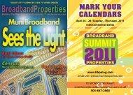 MARK YOUR CALENDARS - Broadband Properties