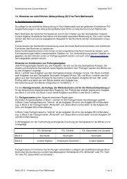 14. Hinweise zur schriftlichen Abiturprüfung 2013 im Fach Mathematik