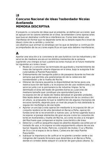 LB Concurso Nacional de Ideas Trasbordador Nicolas Avellaneda ...