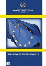 direktive evropske unije - iii - Privredna komora Kantona Sarajevo