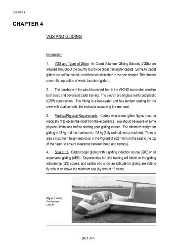 Chapter 4 ................ VGS and Gliding