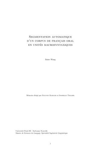 mémoire au format PDF - Université Sorbonne Nouvelle