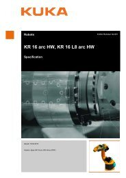 KR 16 arc HW, KR 16 L8 arc HW - KUKA Robotics