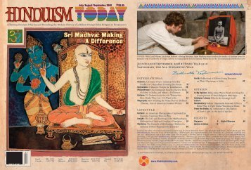 Hinduism Today July 2008 - Cover, Index, Front Articles