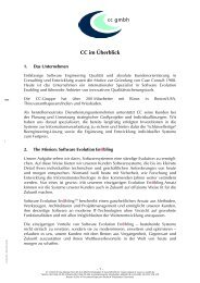 CC im Überblick Deutsch [114 KB] - CC GmbH