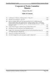 20 May 2013 C+W Minutes - Woollahra Municipal Council