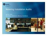 Metering Installation Audits