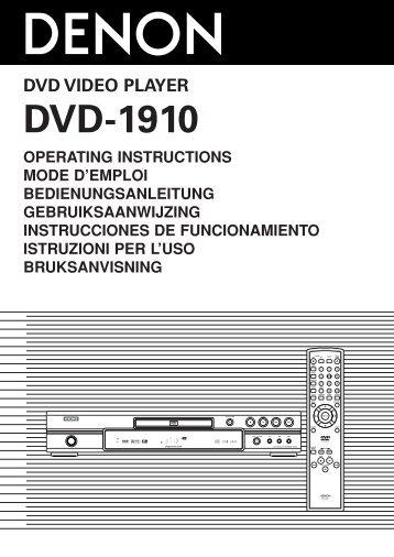 DVD-1910 - Denon