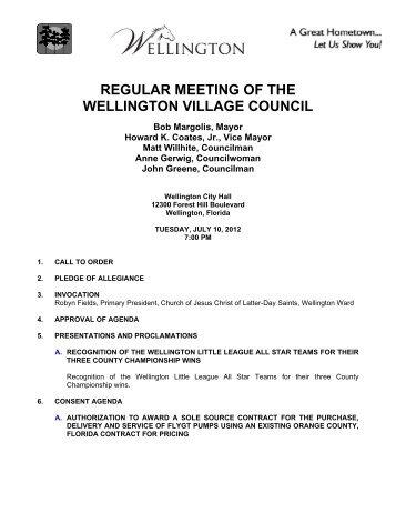 Council Meeting Agen.. - Wellington