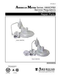 1800CPB2 Series Regulators - Elster American Meter