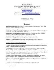 CV Reid 2011 - Landscape Architecture and Urban Planning