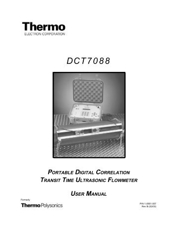 DCT 7088 Manual - SRP Control Systems