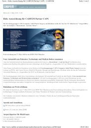 Hohe Auszeichnung für CADFEM Partner CAPS - Home/News ...