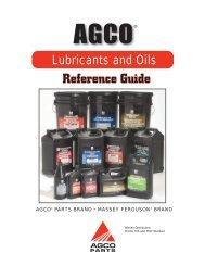 Massey Ferguson ® Lubricants and Oils - AGCO Parts