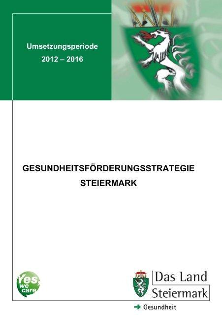 Gesundheitsförderungsstrategie Steiermark - Gesundheitsserver ...