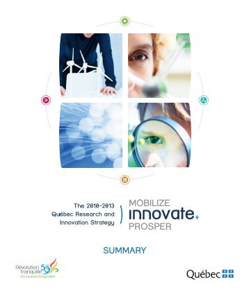 The 2010-2013 Québec Research and Innovation Strategy