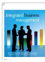 Integrated business management - Oliver Wight Americas