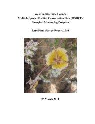 Rare Plant Survey Report 2010 (51 pgs) - Western Riverside County ...