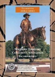 2003 NTCA Yearbook - Northern Territory Cattlemen's Association