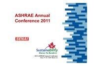 ASHRAE Annual Conference 2011 - Senai