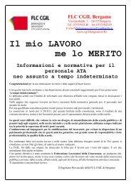 Il mio LAVORO me lo MERITO Informazioni e ... - L'Eco di Bergamo